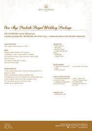 Buffet Menu For Wedding by Wedding Package 2017 Royal Kuningan Hotel