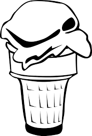 ice cream clipart black and white ice cream clipart