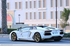 gold and white lamborghini gold plated lamborghini aventador equals sultans of bling