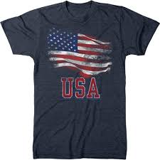 United States American Flag Usa American Flag Stars And Stripes Mens Tri Blend T Shirt