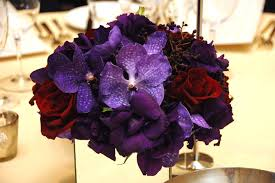 Purple Centerpieces Organica Created The Gala U0027s Centerpieces Which Featured Purple