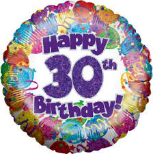 30th birthday flowers and balloons 30th birthday balloon cheshire flowers stockport greater manchester