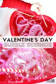 valentines bubble science activity for kindergarten and preschool