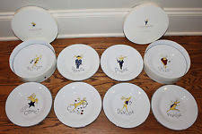 pottery barn reindeer plates ebay