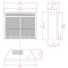 23 inch led ventless electric space heater built in recessed