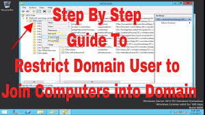 restrict domain users to join computers into domain windows server