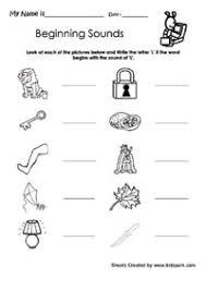 l as beginning sound activity sheet for kindergarten play