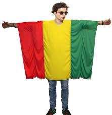 Rasta Flags Unisex Rasta Flag Poncho Onesize Rastafarian Fancy Dress Legalize