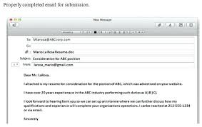 sample email to submit resume ideas collection sample email format
