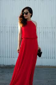 red summer maxi dress u0026 fashion show collection u2013 fashion gossip