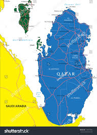 Doha Map Qatar Map Stock Vector 134515934 Shutterstock
