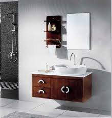 Furniture Ideas by Interesting Decorating Ideas Using Rectangular Brown Wooden Vanity