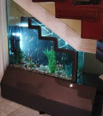 Fish Tank Reception Desk Ideas For Space Under Stairs