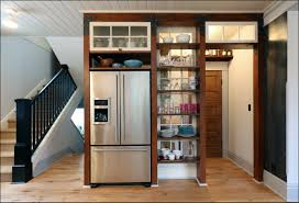 Kitchen Storage Cabinets Pantry Furniture Brown Wooden Pantry Storage Cabinet With Graded