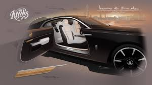 rolls royce door british music icons help rolls royce create bespoke wraith models