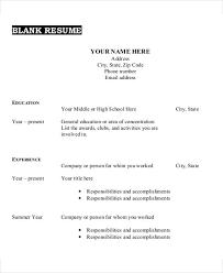 Blank Resume Template 35 Resume Templates Free Premium Templates