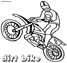 dirt bike coloring pages coloring pages to download and print