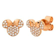 minnie mouse earrings crislu stud earrings minnie mouse icon gold