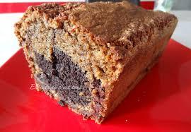 cake noisettine et chocolat marbré selon mercotte et philippe