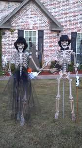 halloween outdoor 574 best skeletons images on pinterest halloween decorating