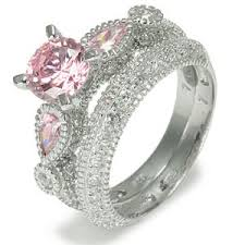 pink wedding rings pink engagement rings ring jewellery diamonds