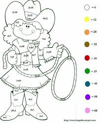 coloring pages printable color by number multiplication free