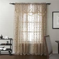 Embroidered Sheer Curtains Counrty Floral Embroidery Sheer Curtains On Sale