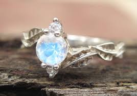 moonstone engagement rings moonstone engagement ring moonstone leaf engagement ring