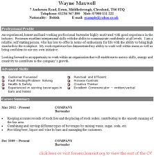 bartender cv example forums learnist org