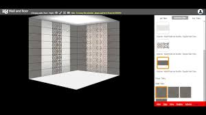 multiple tiles size design with wall and floor 3d tile visualizer