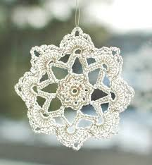 free crochet patterns ornaments decor gifts snowflakes