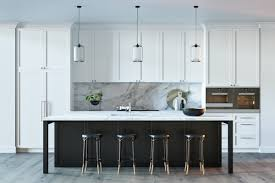 kitchen black stained kitchen island white marble countertop nice