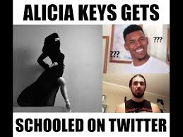 Alicia Keys Meme - alicia keys gets schooled on twitter for sexualizing hijab youtube