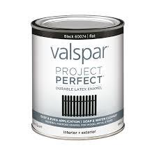 shop valspar project perfect black flat latex enamel interior