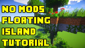 minecraft floating island how to build tutorial survival no