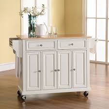 the rolling organized kitchen island hammacher schlemmer