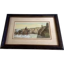 austin deuel watercolor painting figurals cowboy and his pack