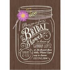 jar bridal shower invitations floral jar standard bridal shower invitation walmart