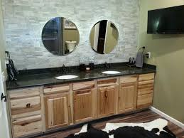 Masters Kitchen Cabinets by Master Bath With Rustic Hickory Cabinets And Uba Tuba Granite