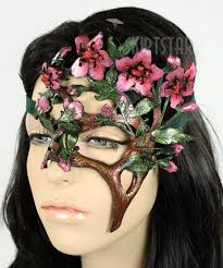 halloween costumes with masquerade masks usa made handcrafted leather cherry blossom tree mask prom fairy