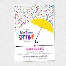 sprinkle baby shower sprinkle baby shower invitations raining rainbow sprinkles and