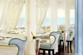 dining room at the penthouse at huntley santa monica beach santa