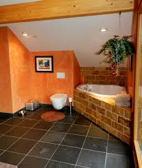 Orange Powder Room Inspired Toto Toilet In Powder Room Contemporary With Toto Toilet