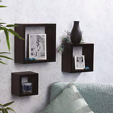 Espresso Floating Shelves by Square Shelves Ebay