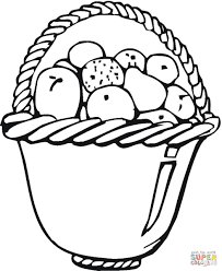 a basket of fruits drawing coloring bowl of fruits coloring page