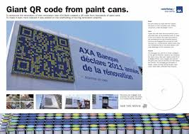 axa banking u0026 insurance giant qr code from paint cans adeevee