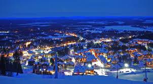 levi center of night ski pinterest finland