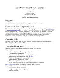 sample resume summary statement example of a summary on a resume free resume example and writing sample resume summaries executive secretary resumes template executive secretary resumes