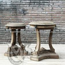 Coffee Table Pedestal Antique French Country Side Table Pedestal Style With Distressed