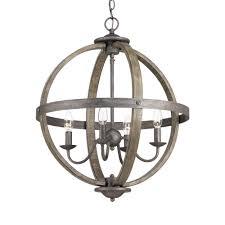 Orb Chandeliers Progress Lighting Keowee Collection 4 Light Artisan Iron Orb